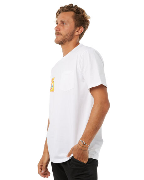 WHITE MENS CLOTHING FEAT TEES - FTTBARC01WHT