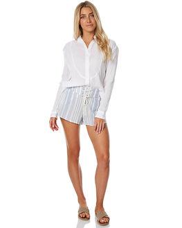 SMOKE BLUE WOMENS CLOTHING BILLABONG SHORTS - 6575271ASMOK