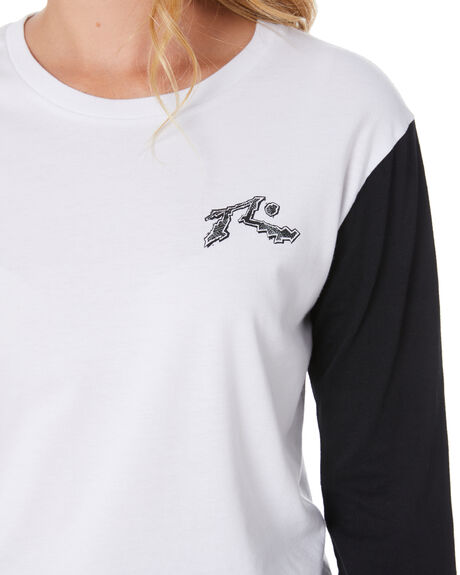 BLACK WHITE WOMENS CLOTHING RUSTY JUMPERS - TTL1106BLKWH