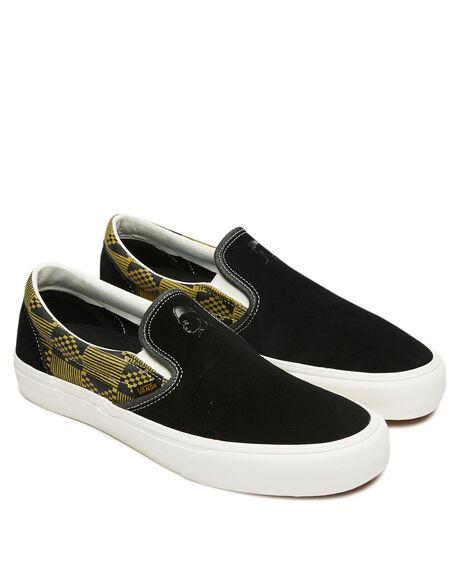 BLACK MENS FOOTWEAR VANS SLIP ONS - VN0A3MUC1L3BLK