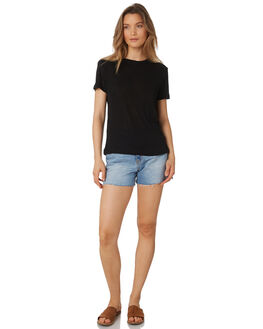 BLACK WOMENS CLOTHING THE BARE ROAD TEES - 991241-03BLK