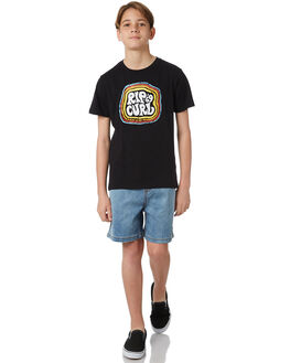 BLACK KIDS BOYS RIP CURL TEES - KTEXR30090