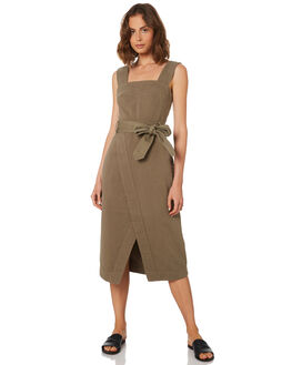 KHAKI WOMENS CLOTHING C&M CAMILLA AND MARC DRESSES - TCMD1539KHAKI