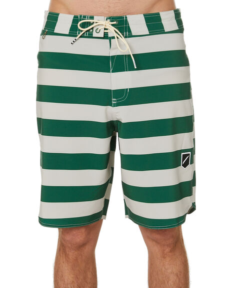 OFF WHITE GREEN MENS CLOTHING STCY MFG BOARDSHORTS - STBSLEAGOW17WHGRN