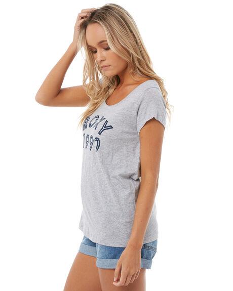 HERITAGE HEATHER WOMENS CLOTHING ROXY TEES - ERJZT04175SGRH