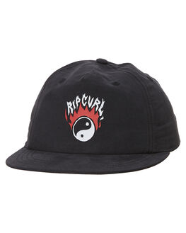WASHED BLACK KIDS BOYS RIP CURL HEADWEAR - KCAZI38264