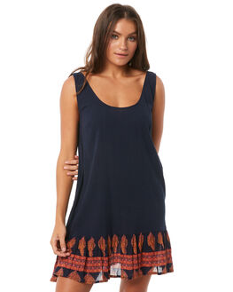 NAVY BORDER WOMENS CLOTHING O'NEILL DRESSES - 4721615-NBD