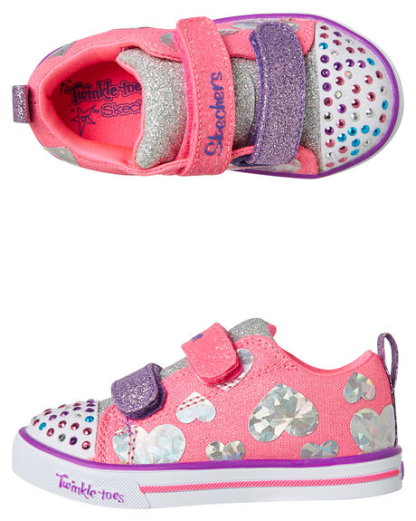 HOT PINK MULTI KIDS TODDLER GIRLS SKECHERS FOOTWEAR - 20051NHPMT