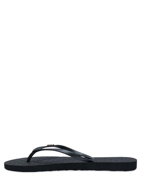 BLACK WOMENS FOOTWEAR ROXY THONGS - ARJL100663BK3