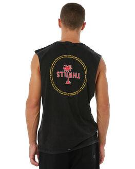 ACID BLACK MENS CLOTHING THRILLS SINGLETS - TA8-112VBABLK