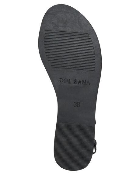 BLACK WOMENS FOOTWEAR SOL SANA SLIDES - SS192S420BLK