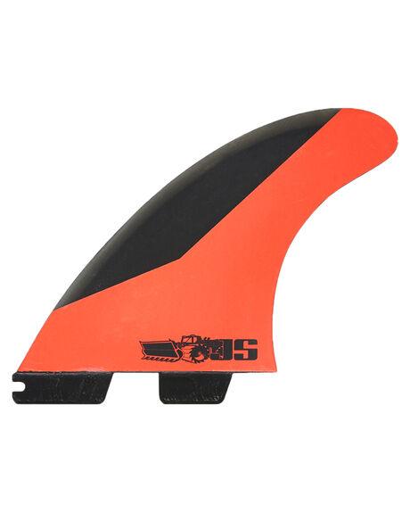 CHARCOAL RED BOARDSPORTS SURF FCS FINS - FJSM-PC02-FS-RCHRD