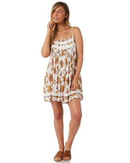 WHITE WOMENS CLOTHING TIGERLILY DRESSES - T382400WHT