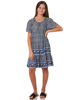 FARAWAY BORDER PRINT KIDS GIRLS SWELL DRESSES + PLAYSUITS - S6203442FARAW