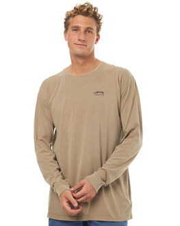 TAN MENS CLOTHING STUSSY TEES - ST071001TAN