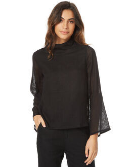 BLACK WOMENS CLOTHING THE BARE ROAD FASHION TOPS - 791151-01BLK