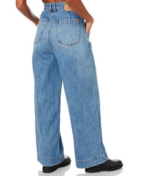 TRUCKER BLUE WOMENS CLOTHING THRILLS JEANS - WTDP-429ETTRKBL