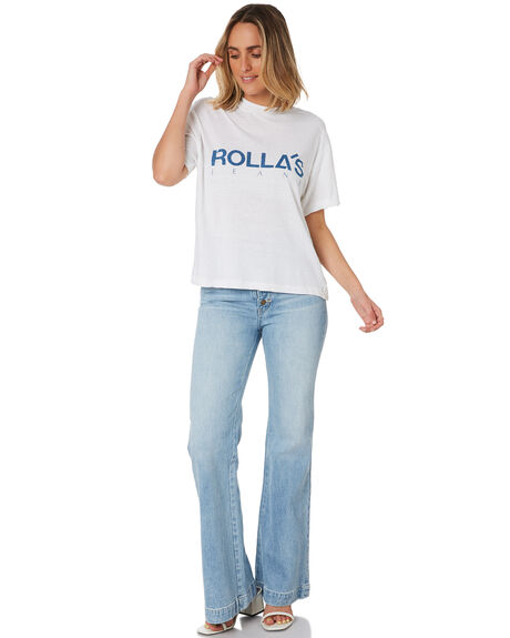 WHITE WOMENS CLOTHING ROLLAS TEES - 13541WHT