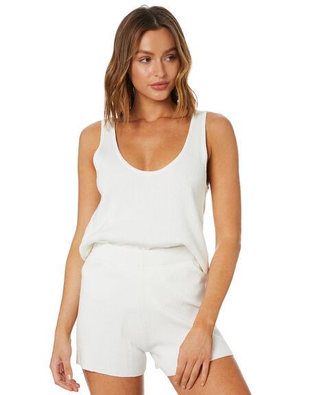 WHITE WOMENS CLOTHING ZULU AND ZEPHYR SINGLETS - ZZ3377WHT