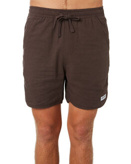 DIRTY BLACK MENS CLOTHING BANKS SHORTS - WS0126DBL
