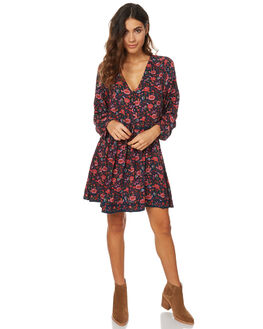 BLACK WOMENS CLOTHING RUSTY DRESSES - DRL0856BLK