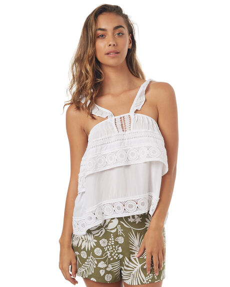 WHITE WOMENS CLOTHING RUSTY FASHION TOPS - WSL0550WHT