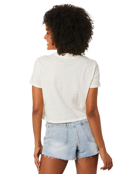 WHITE OUTLET WOMENS VOLCOM TEES - B3502000WHT