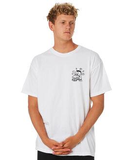 WHITE MENS CLOTHING DEAD KOOKS TEES - DKSSTEE33WHT