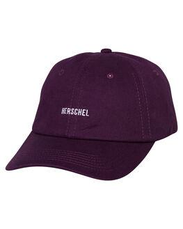PURPLE VELVET MENS ACCESSORIES HERSCHEL SUPPLY CO HEADWEAR - 1059-0762-OSPUR
