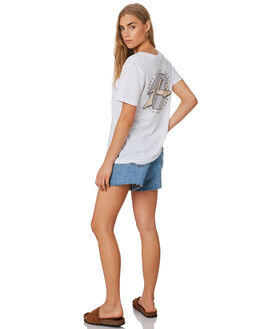 WHITE WOMENS CLOTHING RUSTY TEES - TTL1108WHT