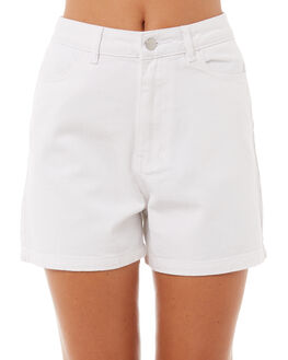 WHITE WOMENS CLOTHING AFENDS SHORTS - W181300WHT
