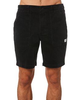 DIRTY BLACK MENS CLOTHING BANKS SHORTS - WS0099DBLK