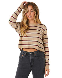 ZEPPELIN STRIPE WOMENS CLOTHING THRILLS TEES - WTA9-110CZZEP