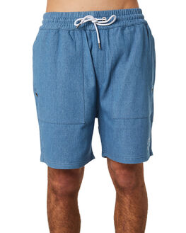 CHAMBRAY WAFFLE MENS CLOTHING RPM SHORTS - 8PMB04ACHAM