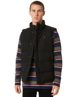 BLACK MENS CLOTHING HUFFER JACKETS - MDVE81S1401BLK