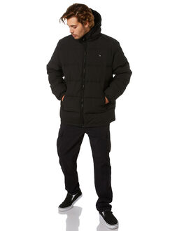 BLACK MENS CLOTHING HUFFER JACKETS - MDJA02S1401BLK