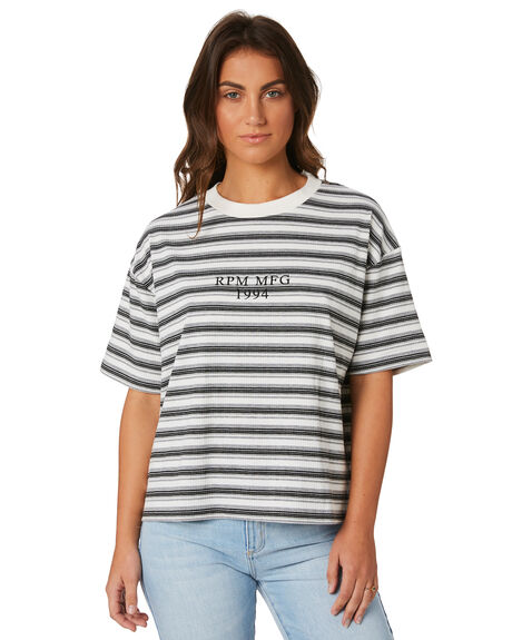GREY STRIPE WOMENS CLOTHING RPM TEES - 8PWT04AGRYS