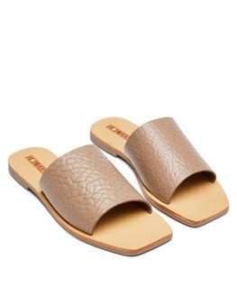 TAUPE ELEPHANT WOMENS FOOTWEAR SOL SANA SLIDES - SS201W335TELE