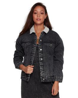 BLACK ACID WOMENS CLOTHING RVCA JACKETS - RV-R207436-252