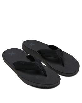 BLACK DARK GREY MENS FOOTWEAR HURLEY THONGS - BQ3188010