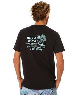 BLACK MENS CLOTHING BILLABONG TEES - 9582023BLK