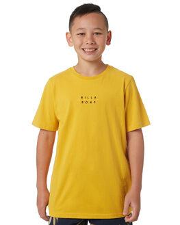 LIGHT MUSTARD KIDS BOYS BILLABONG TEES - 8581017LMUST