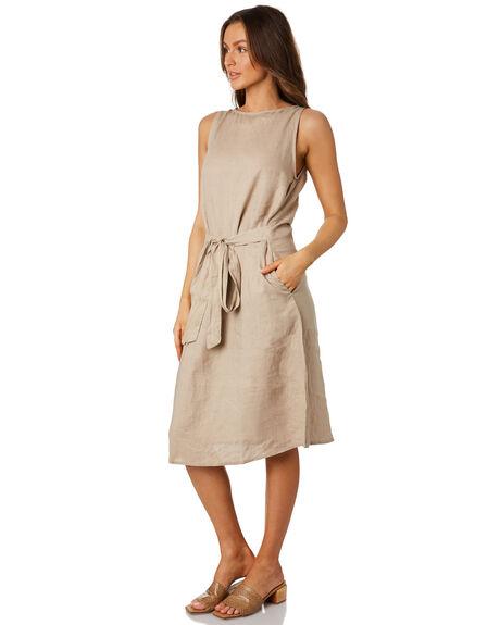 SAND WOMENS CLOTHING LILYA DRESSES - LD04SAND