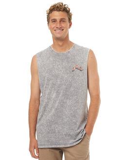 STONE GREY MENS CLOTHING RUSTY SINGLETS - MSM0229SOG