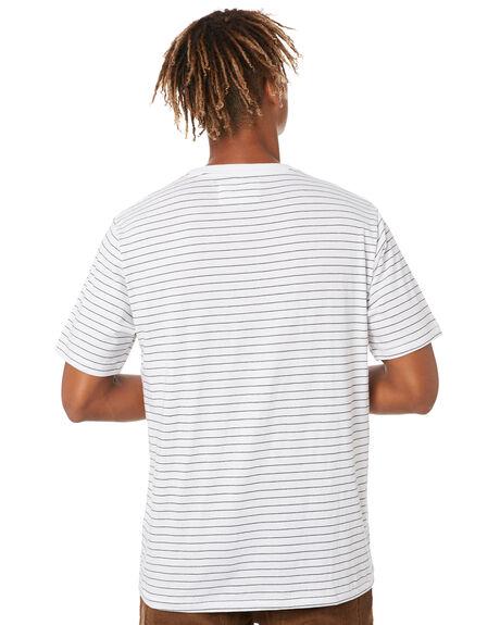 WHITE STRIPE MENS CLOTHING BARNEY COOLS TEES - 100-Q320WHTST