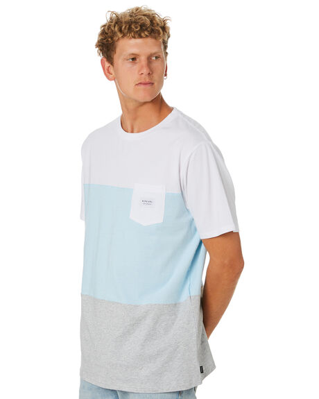 WHITE MENS CLOTHING RIP CURL TEES - CTETP21000
