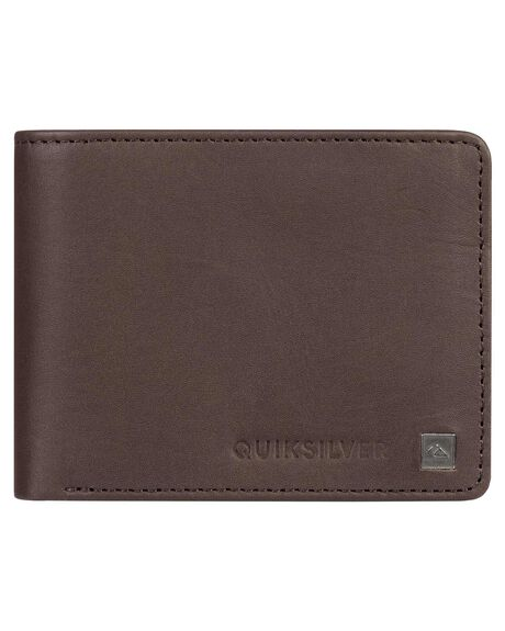 CHOCOLATE BROWN MENS ACCESSORIES QUIKSILVER WALLETS - EQYAA03813-CSD0