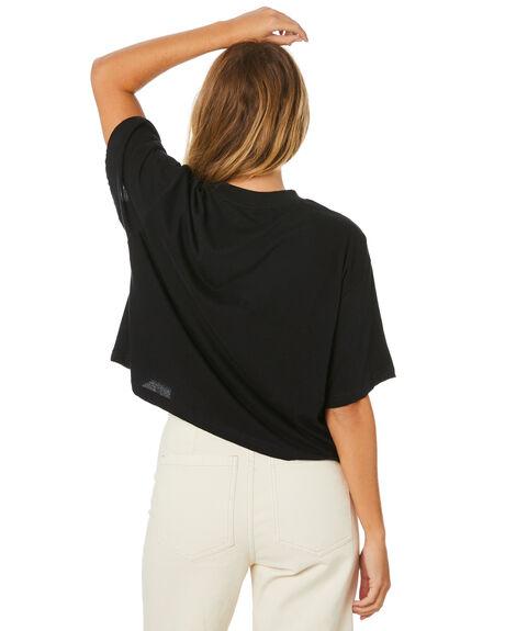 BLACK WOMENS CLOTHING STUSSY TEES - ST106009BLK