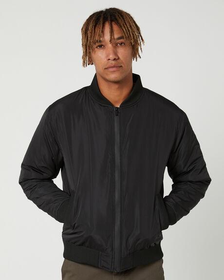 BLACK MENS CLOTHING MR SIMPLE JACKETS - M-09-44-01BLK