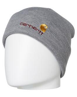 GREY HEATHER MENS ACCESSORIES CARHARTT HEADWEAR - I025386-V600